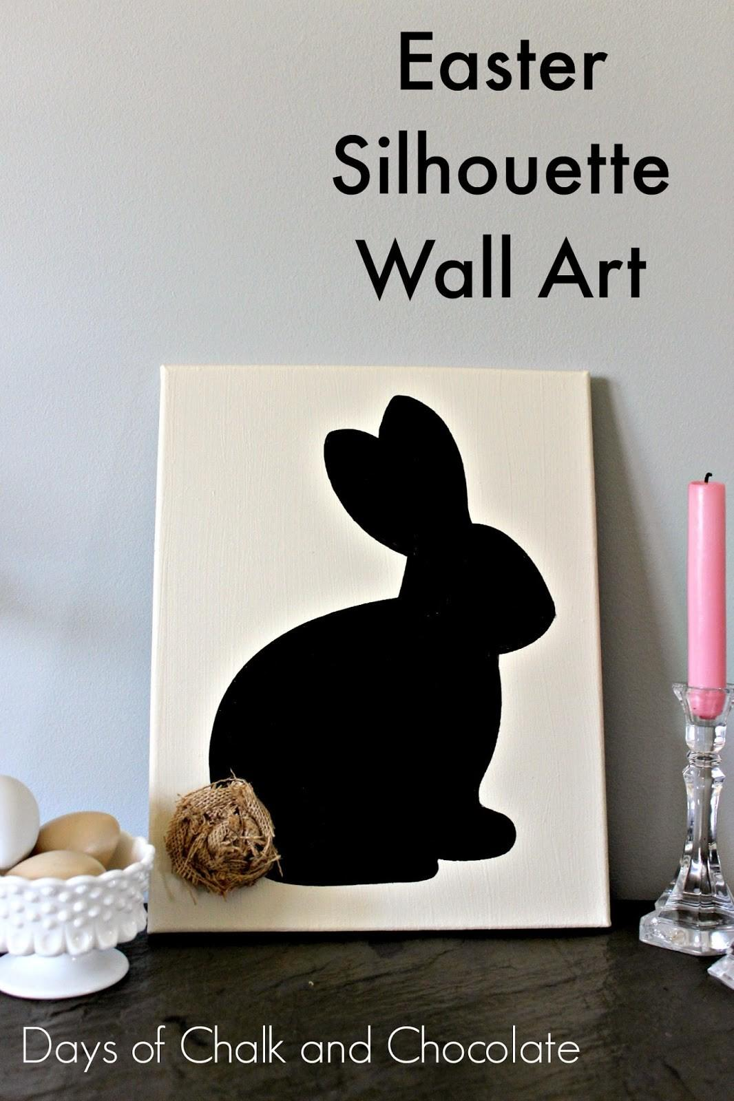 Can Make Easter Silhouette Wall Art Days Chalk