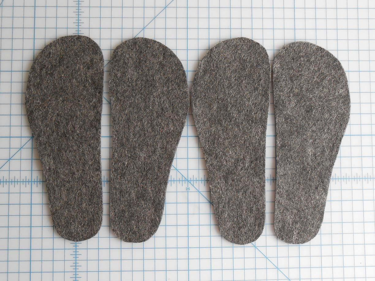 Can Upcycled Sweater Slippers