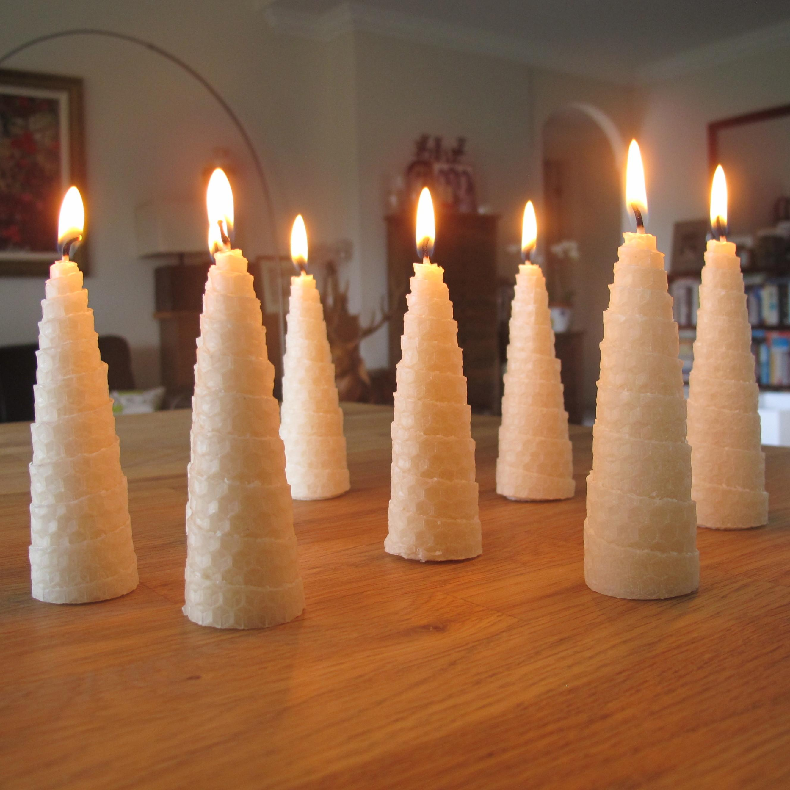 Candle Making Instructions Roll Beeswax Christmas Tree Candles