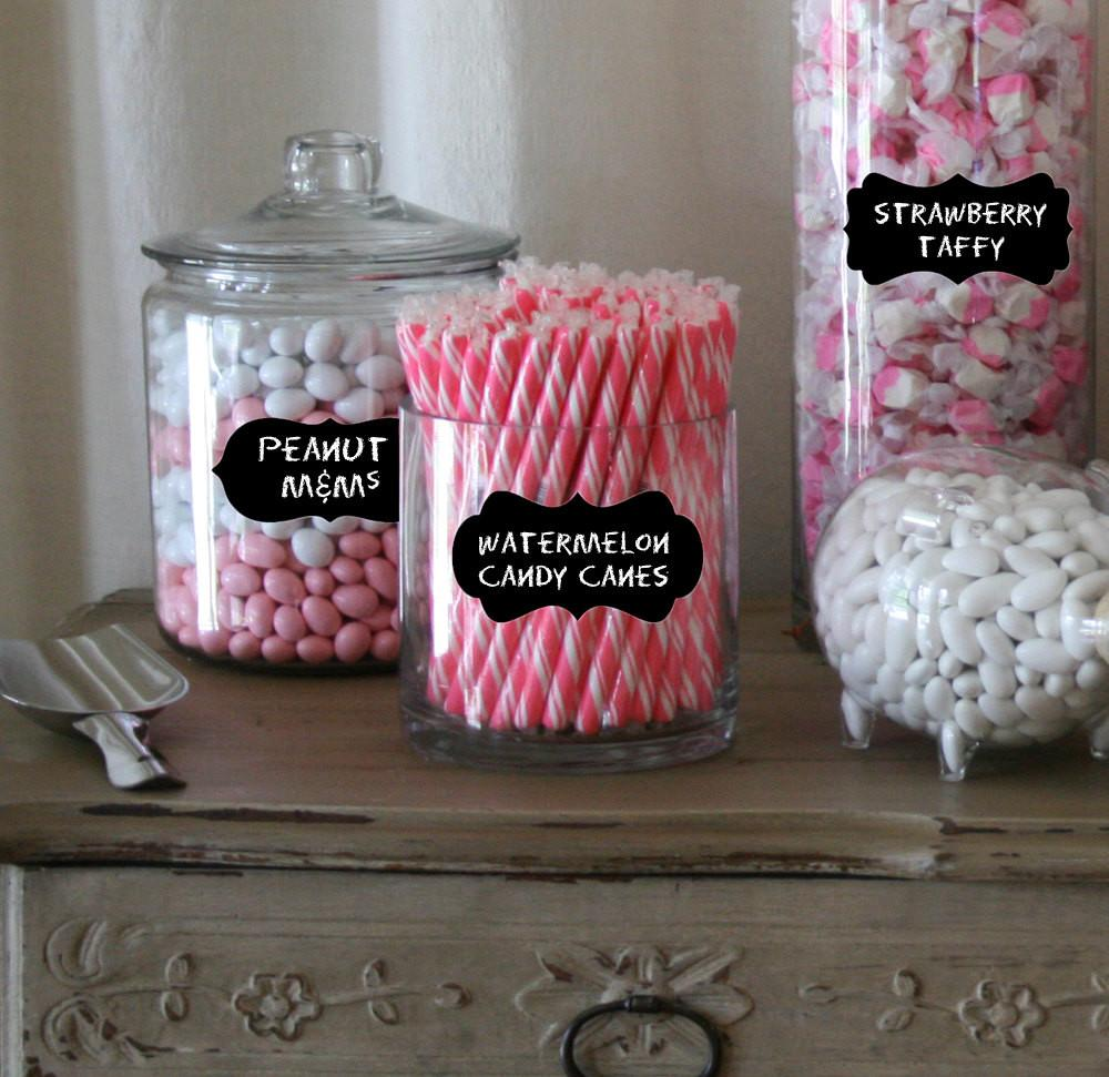 Candy Buffet Label Jars Chalkboard Labels Medium Mixed