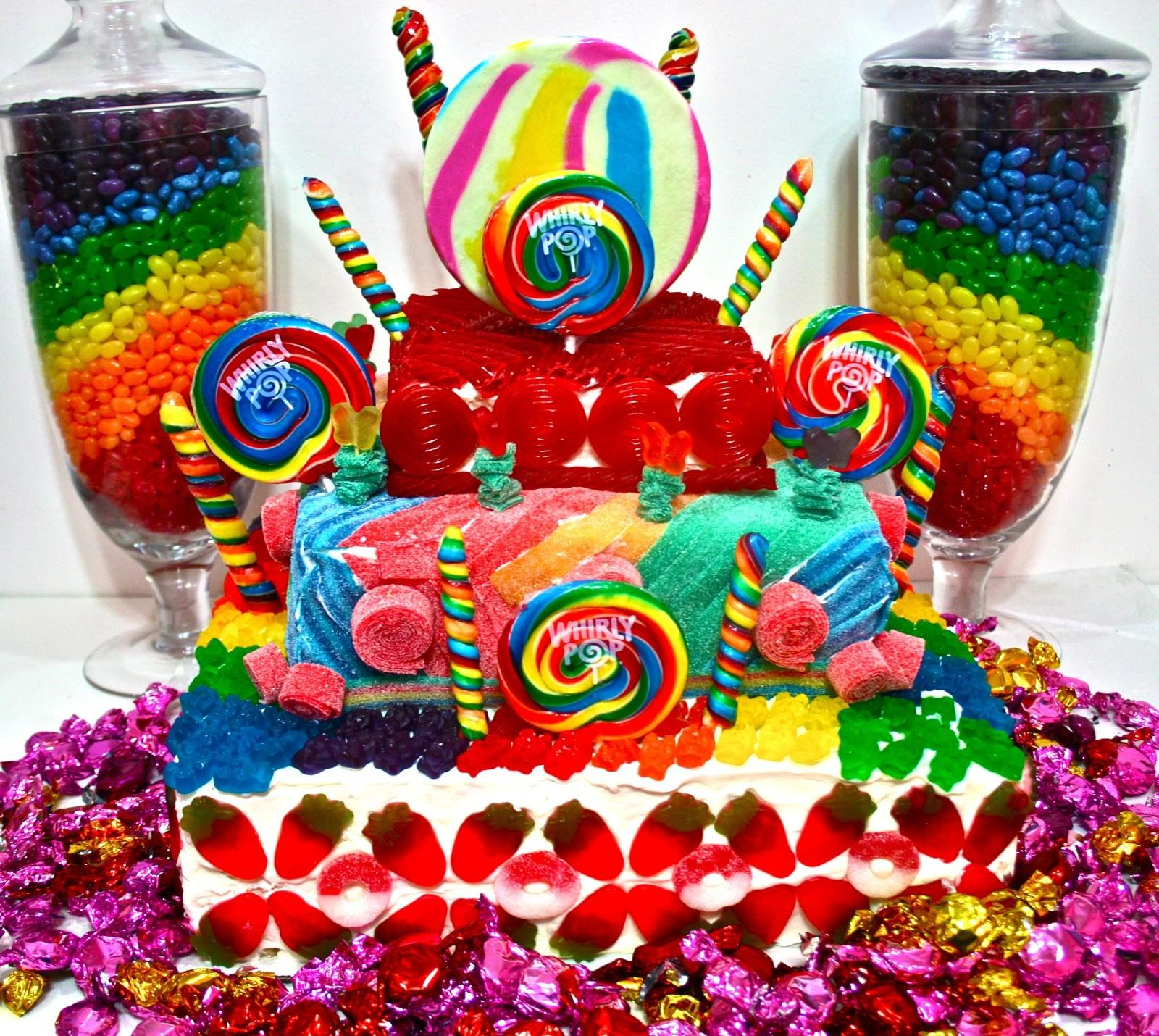 Candy Cakes Land Crazy Colorful Centerpieces