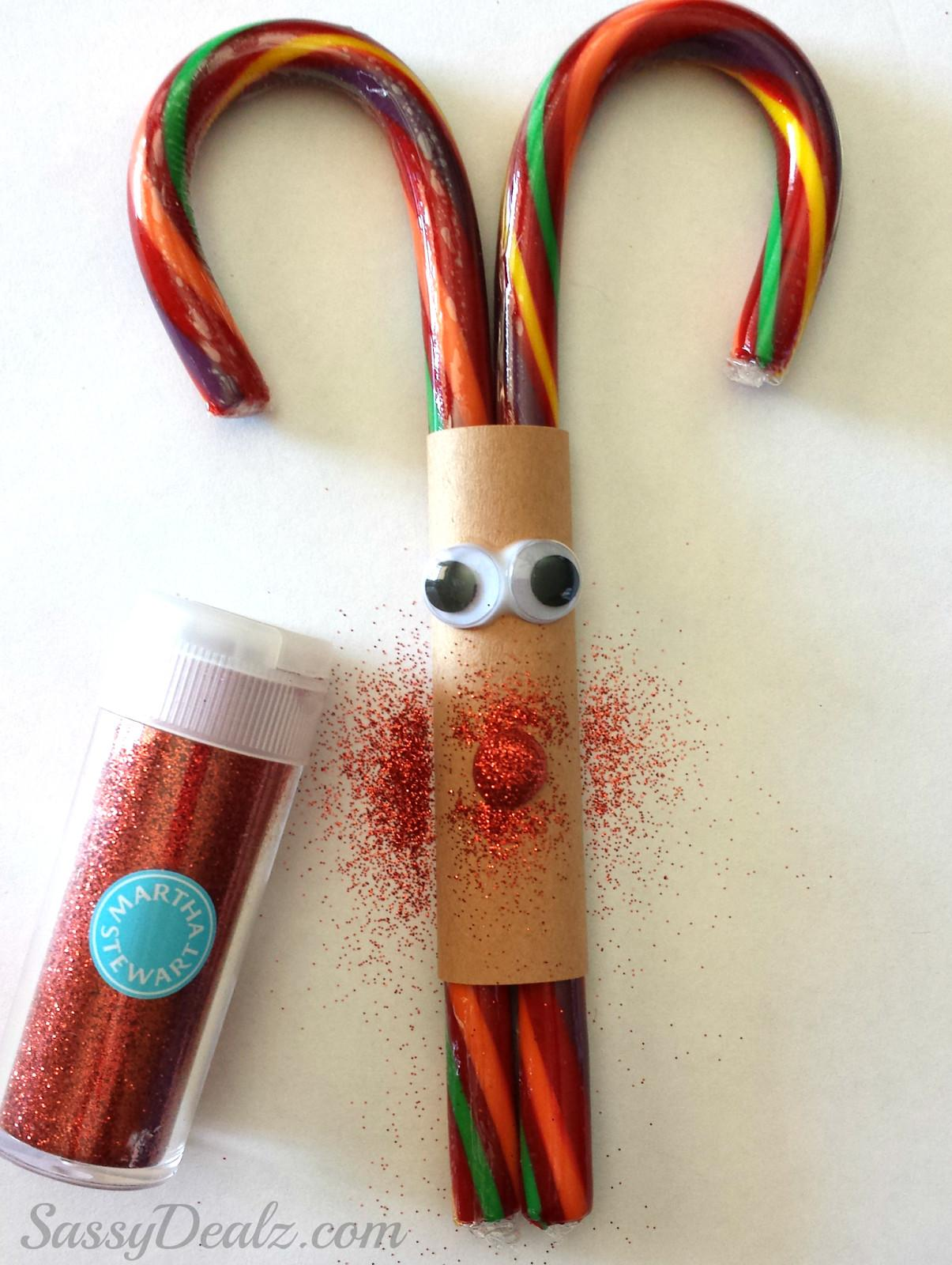 Candy Cane Reindeer Christmas Craft Treat Kids