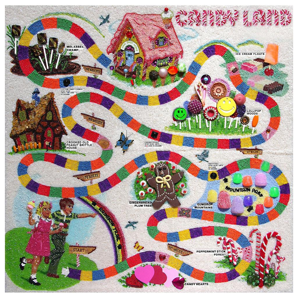Candyland Glued Countless Thousands Seed Beads