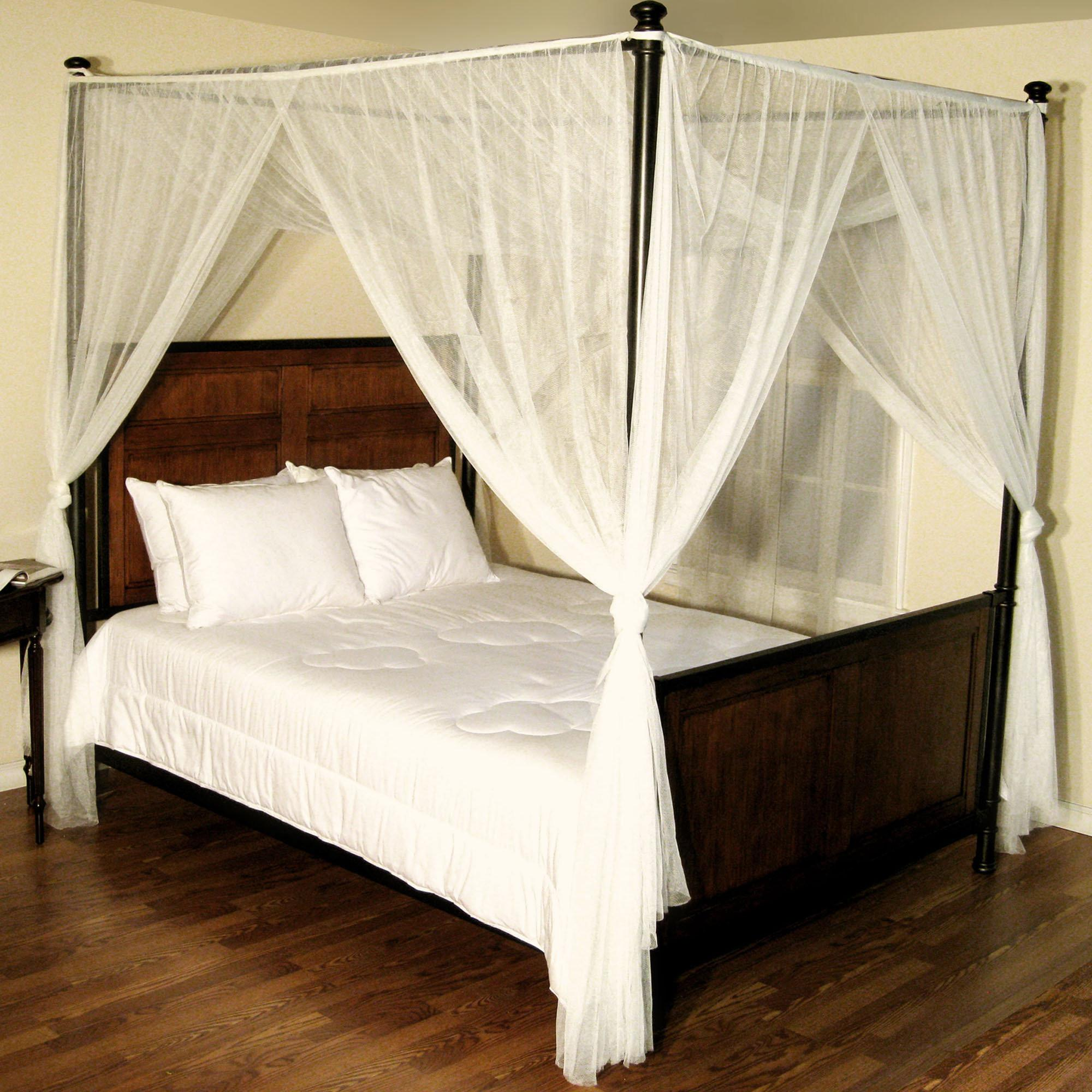 Canopy Bed Drapes Nice White Curtains
