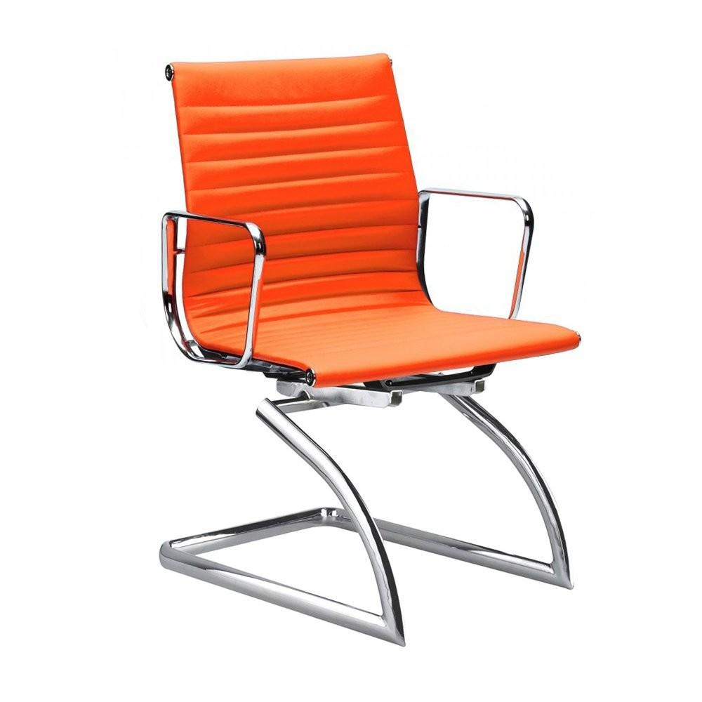 Cantilever Style Orange Conference Chair Cult