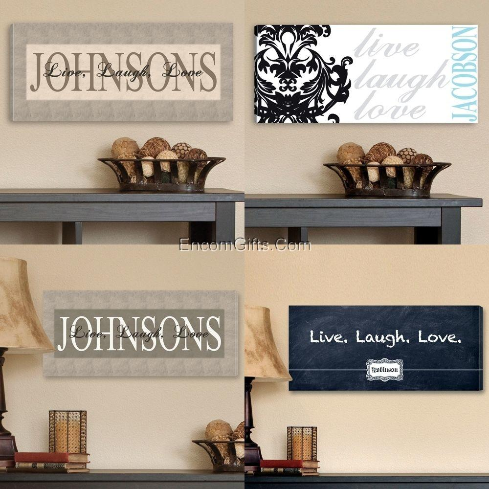 Canvas Wall Art Print Personalized Live Laugh Love