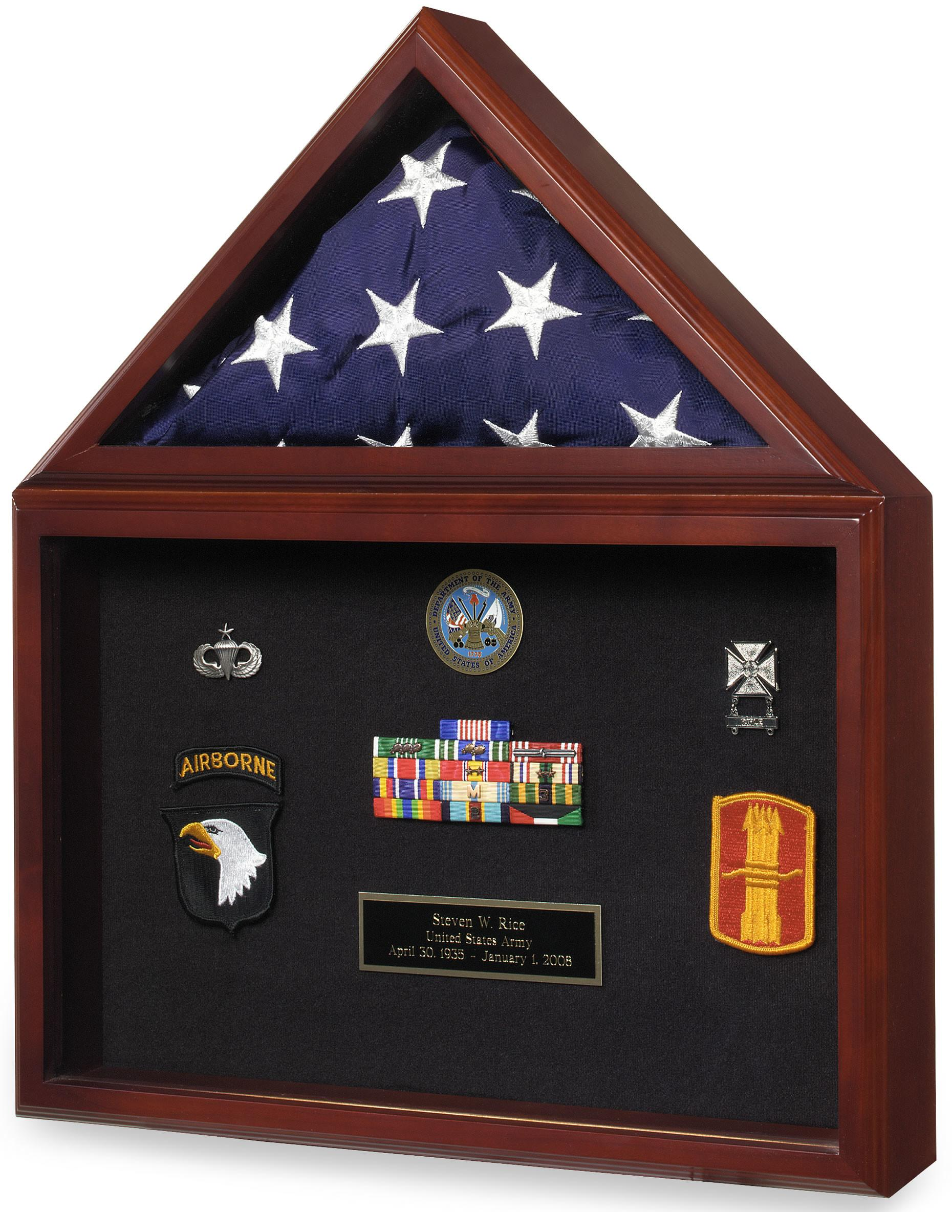 Capitol Flag Certificate Display Case Shadow Box