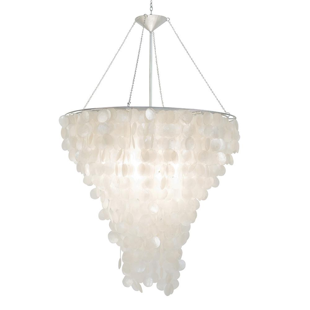 Capiz Chandelier Long Hanging Pendant Lamp West Elm