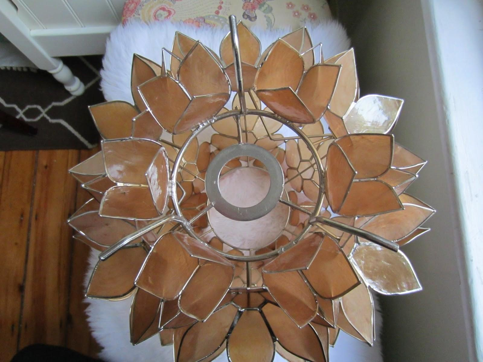Capiz Flower Chandelier Diy