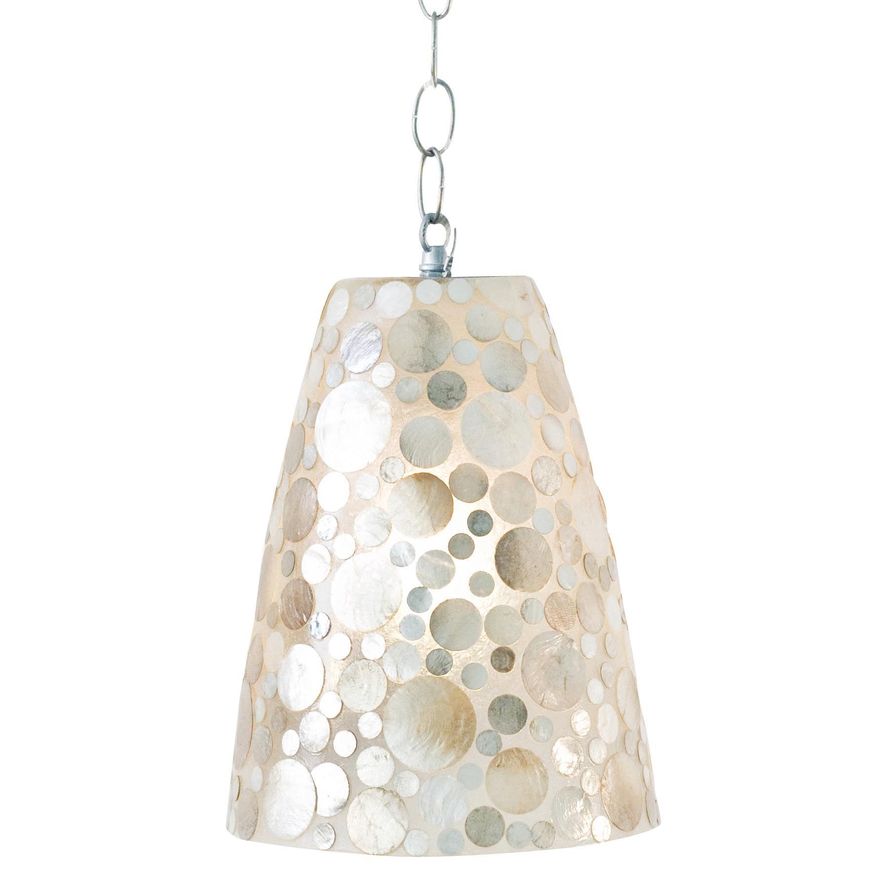 Capiz Shell Chandelier Make Faux