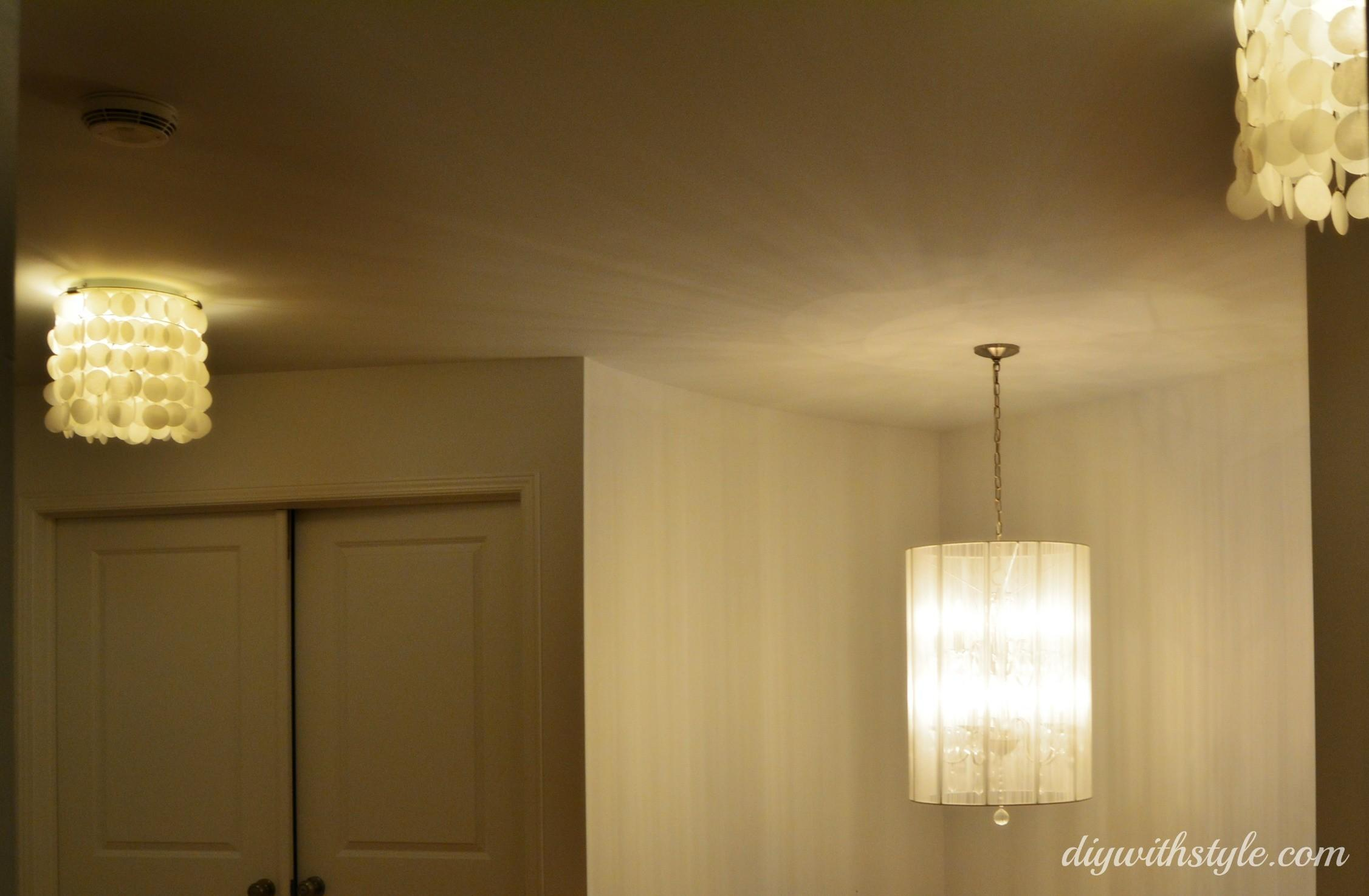 Capiz Shell Inspired Chandelier Diy Style