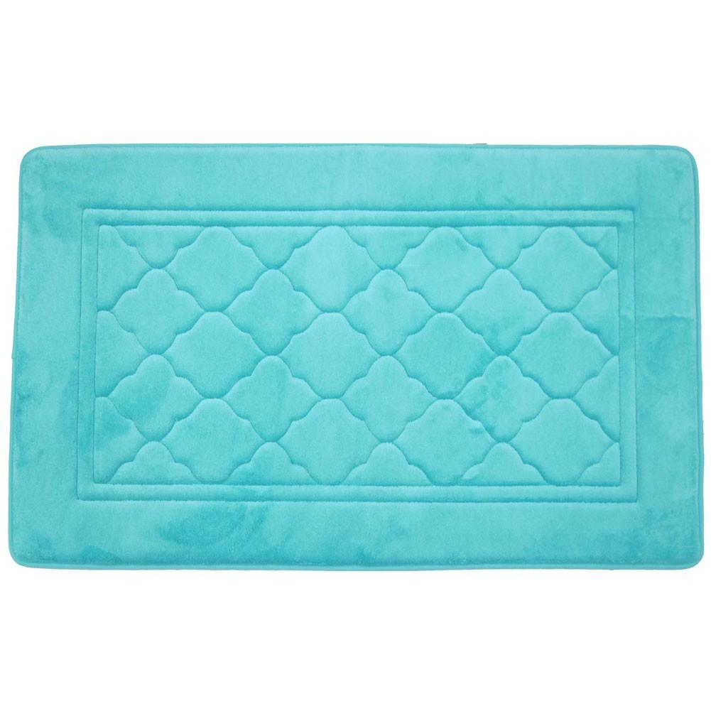 Capri Quatrefoil Design Memory Foam Super Soft Bath Mat