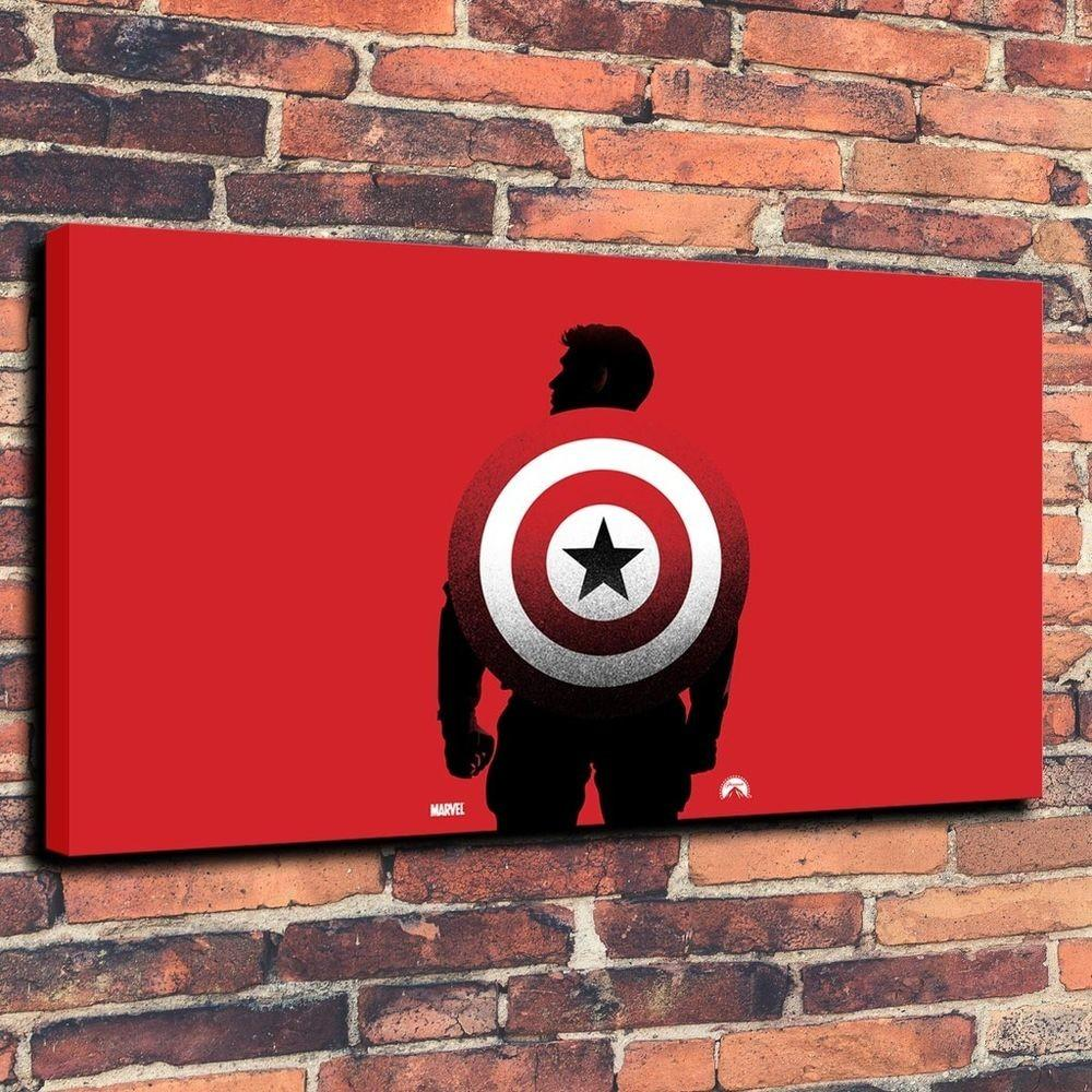Captain America Shield Print Oil Painting Canvas Home