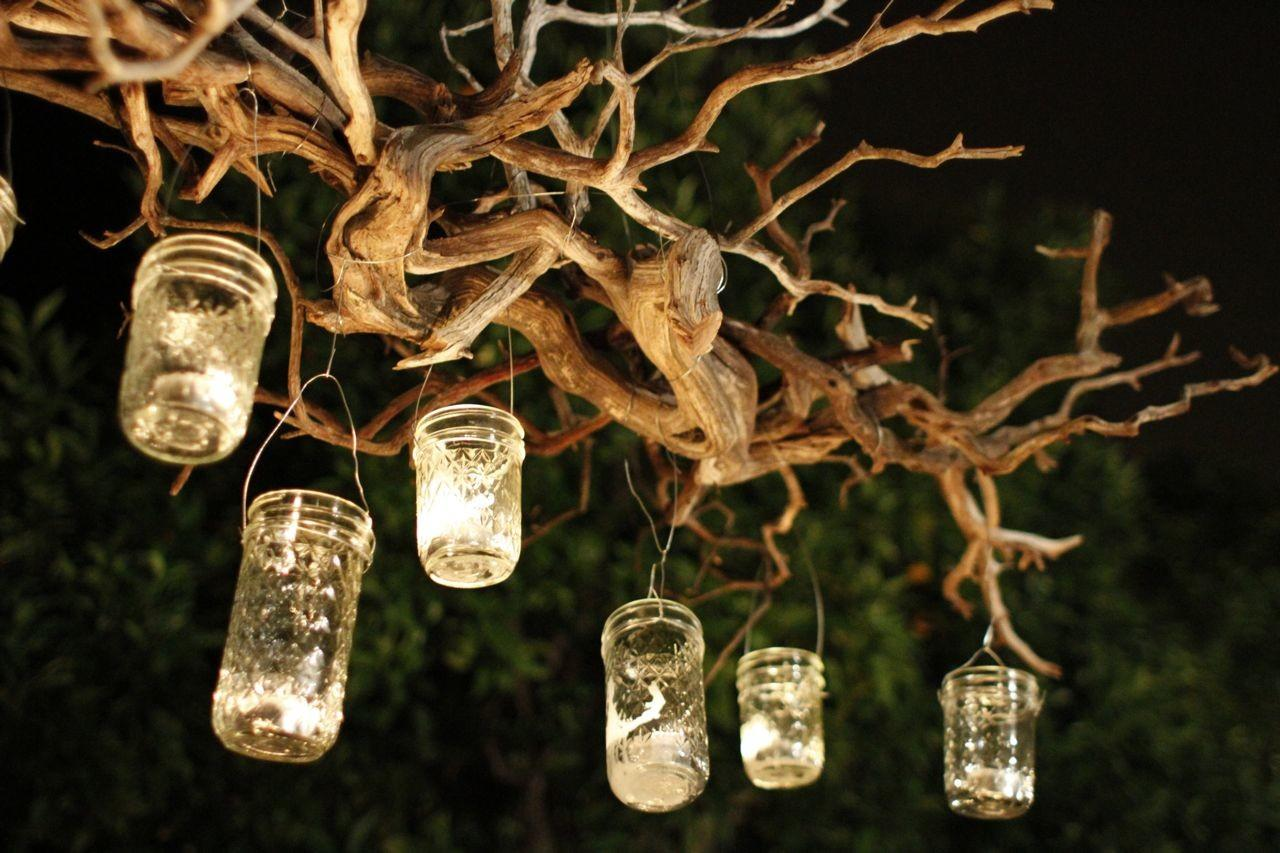 Capture Light Diy Outdoor Mason Jar Chandelier
