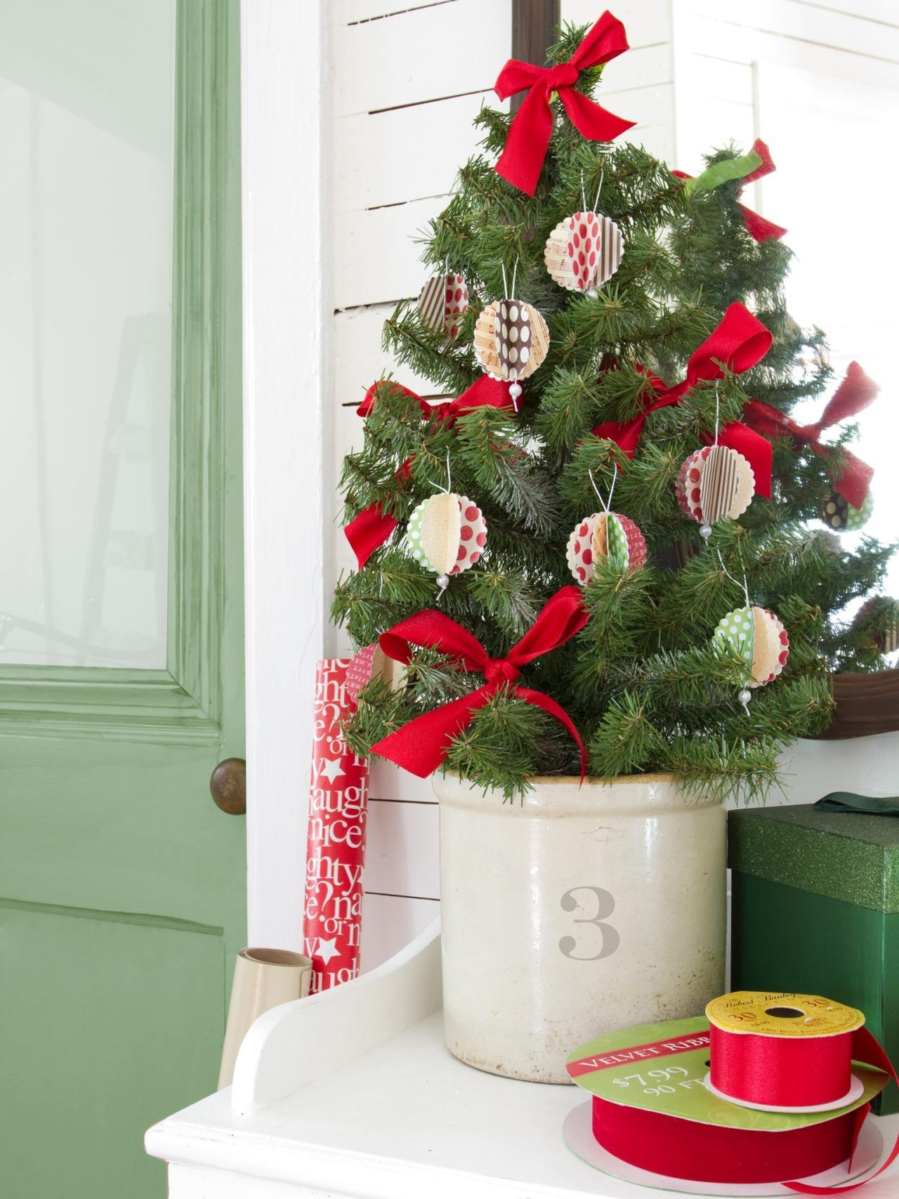 Card Stock Christmas Ornaments