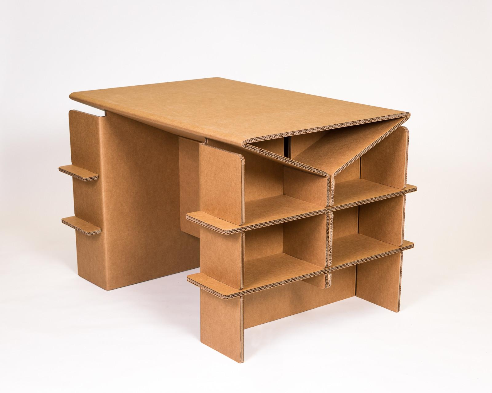 Cardboard Arts Crafts Desk Shipping Chairigami