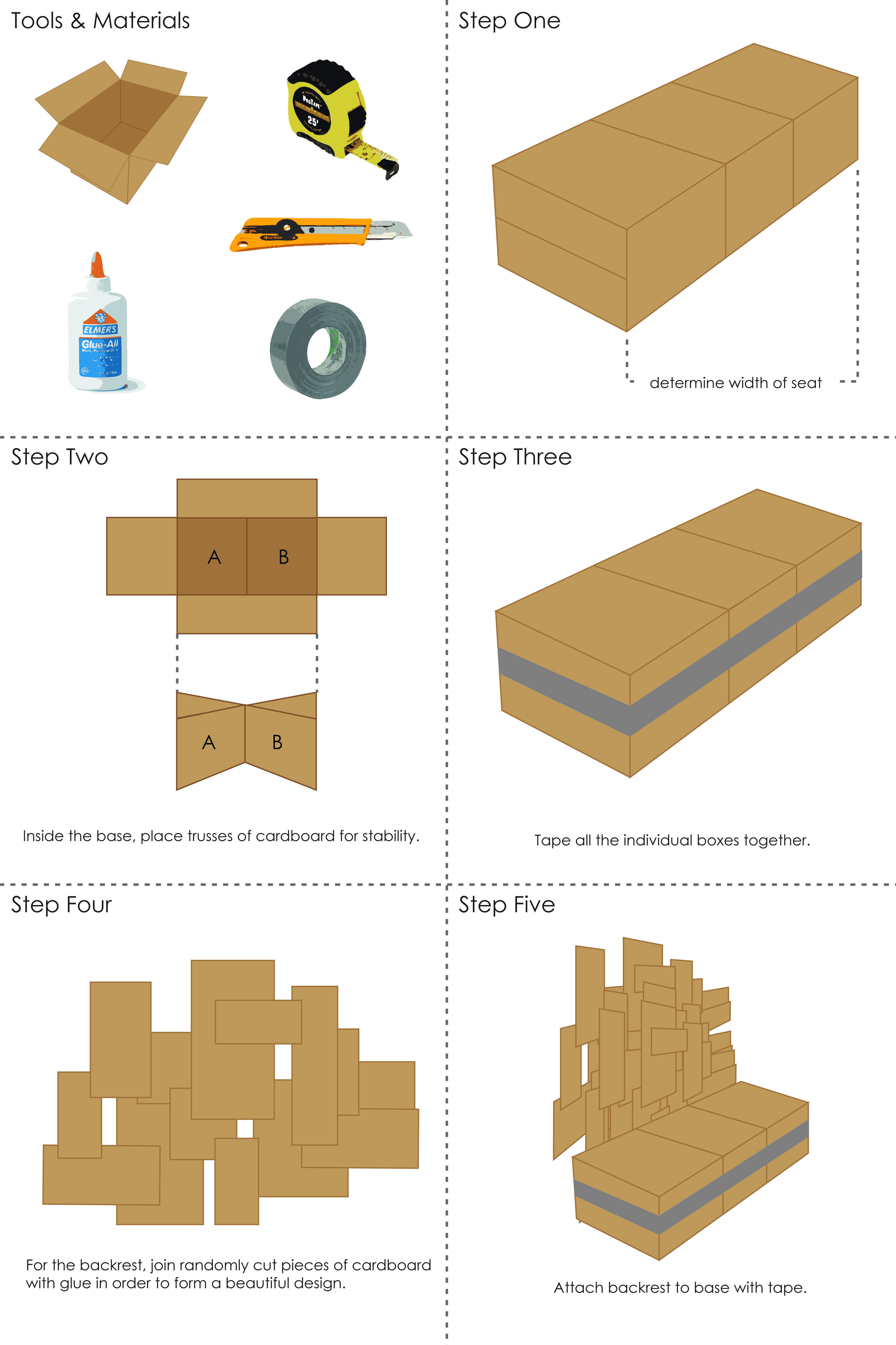 Cardboard Chair Instructions Creativity Design Cognition