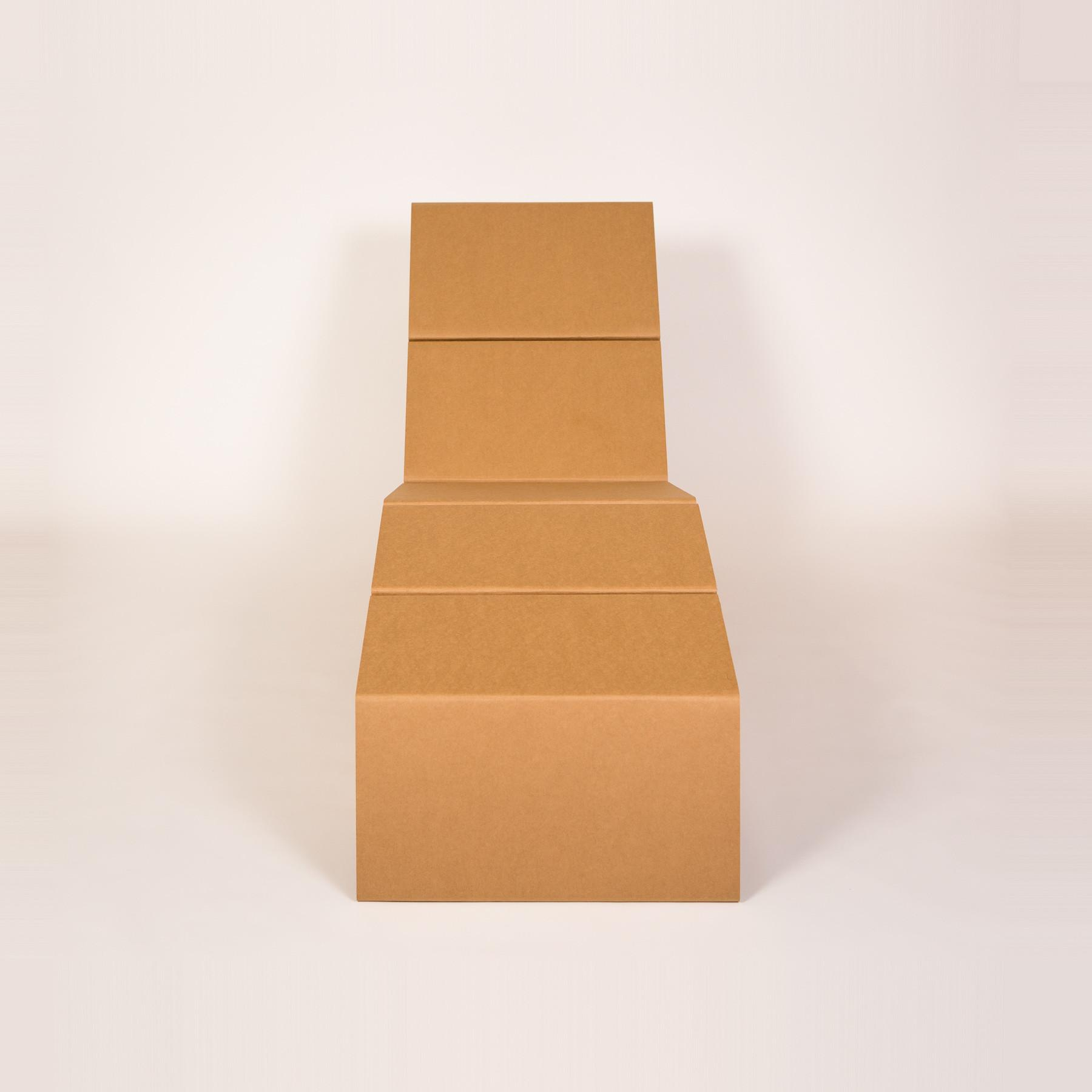 Cardboard Chaise Lounge Shipping Chairigami