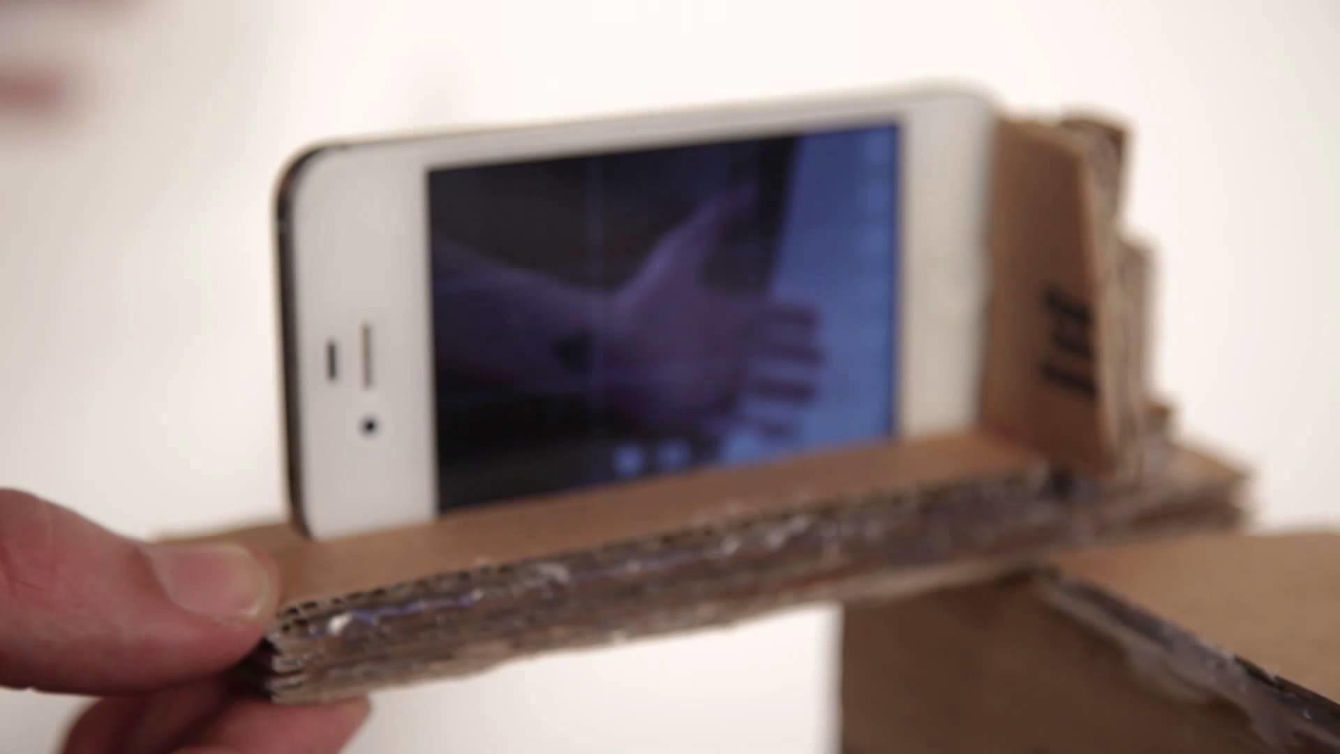 Cardboard Diy Mobile Cell Phone Camera Rig