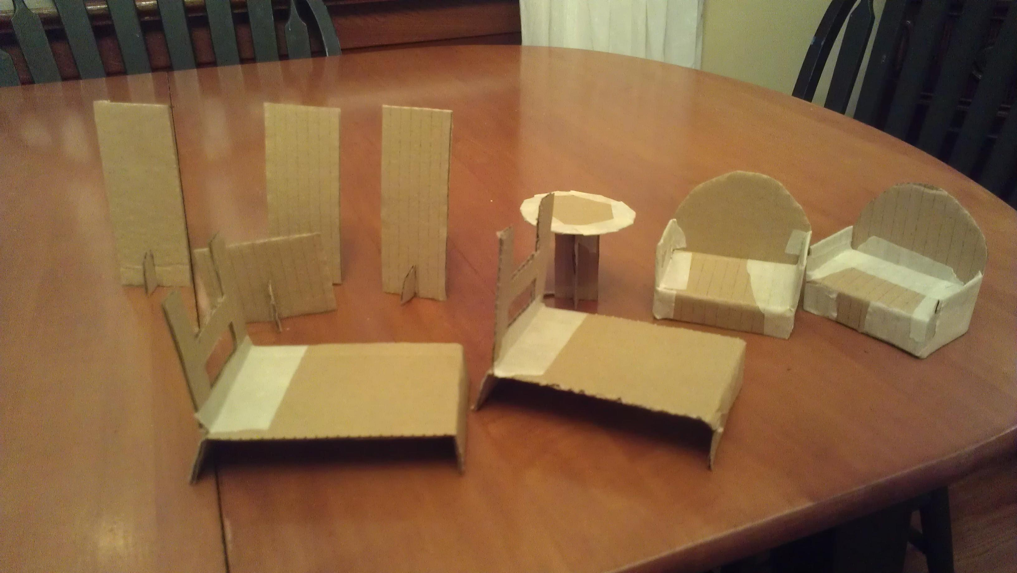 Cardboard Dollhouse Plans Guide Patterns