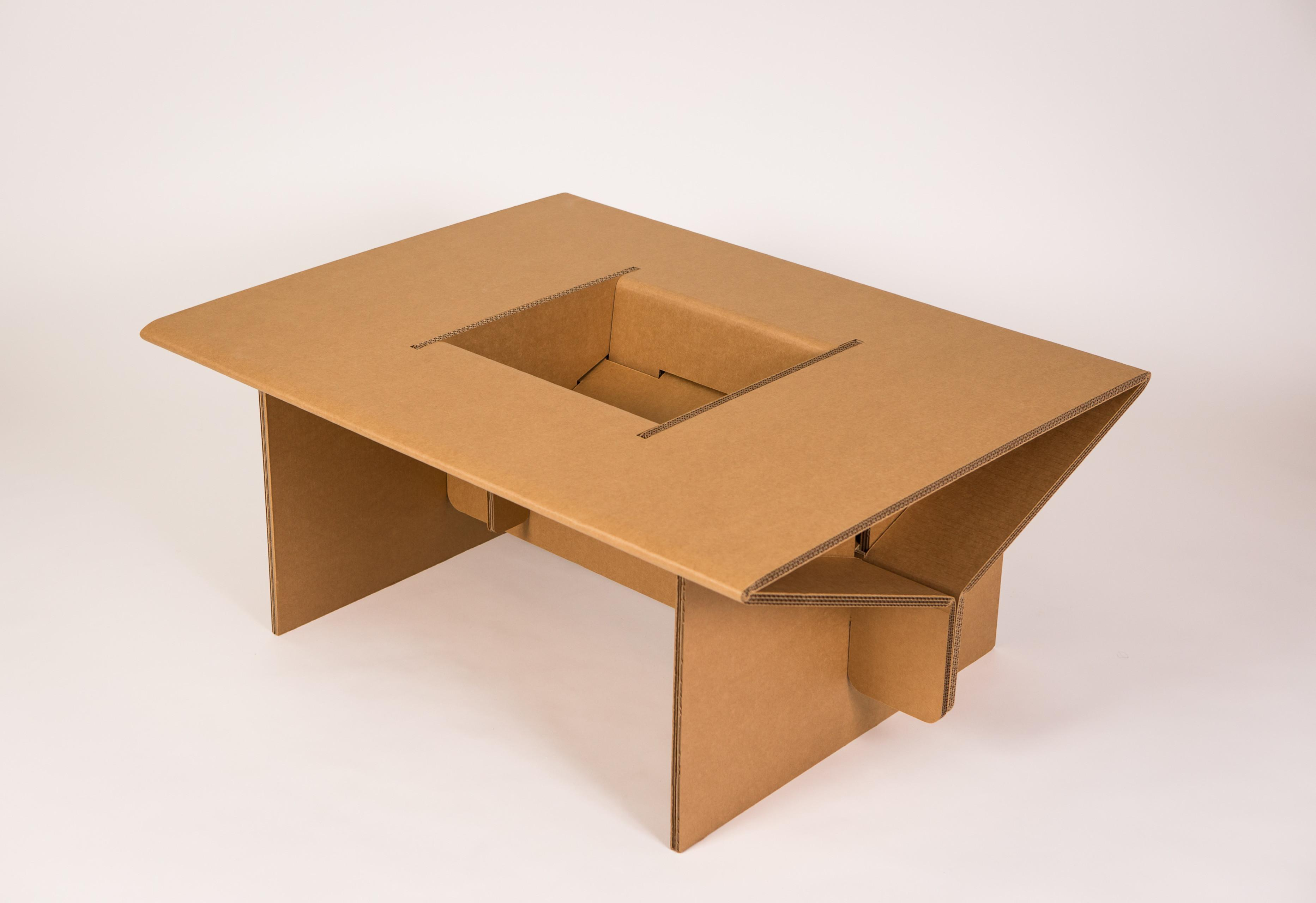 Cardboard Kids Play Table Shipping Chairigami