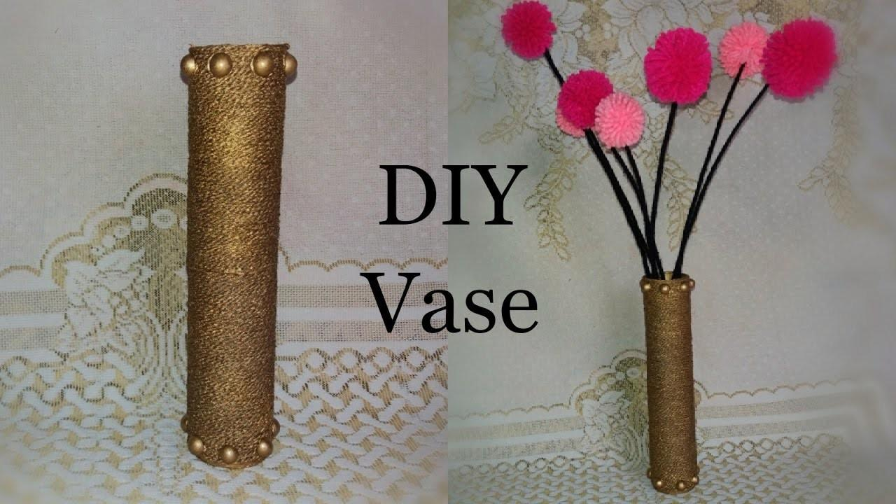 Cardboard Vase Roll Tutorial Room Decor