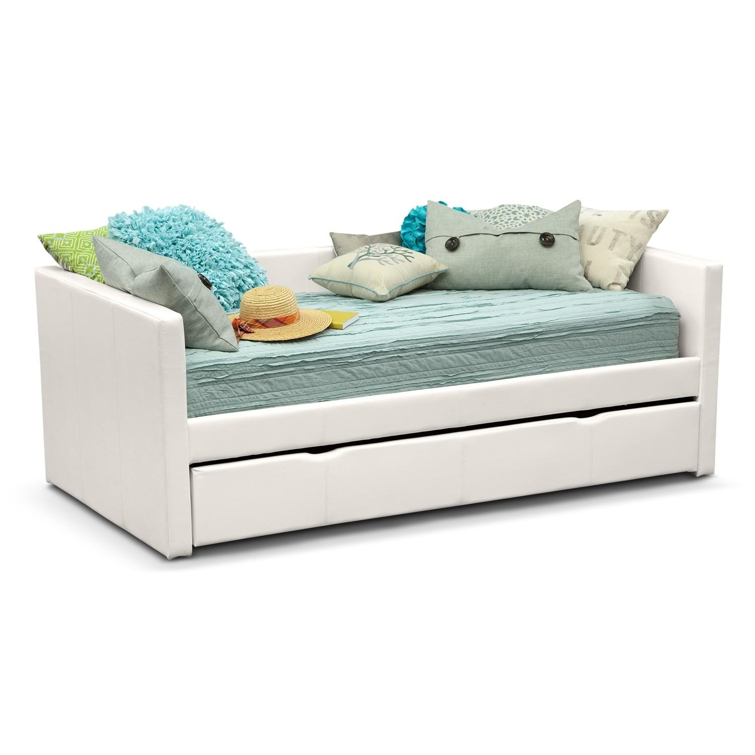Carey Twin Daybed Trundle White Value City Furniture