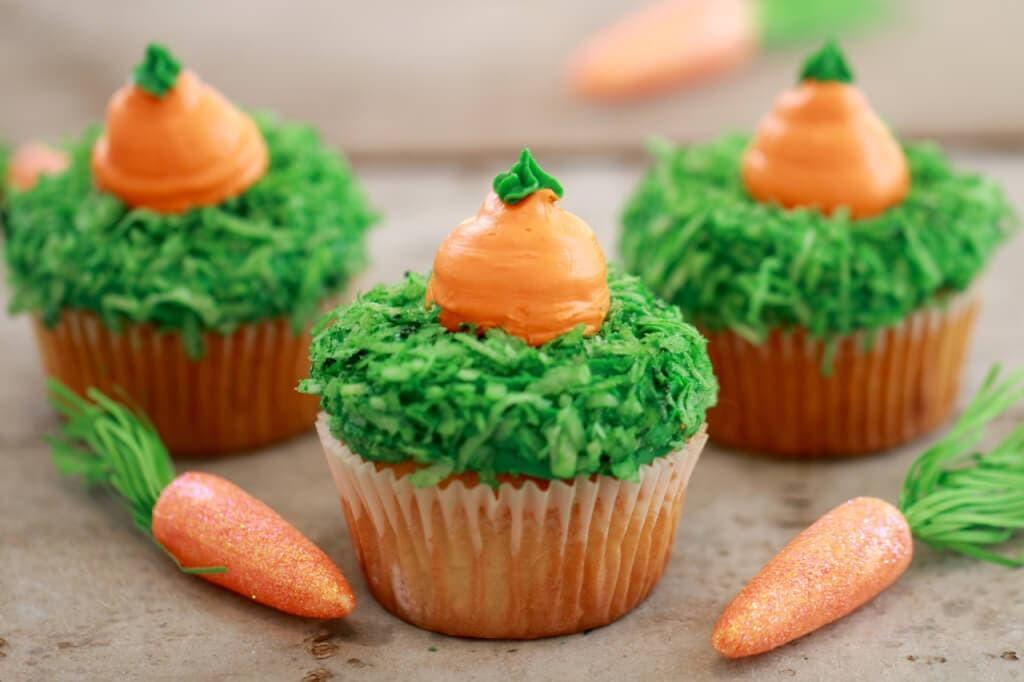 Carrot Cake Cupcakes Small Batch Spring