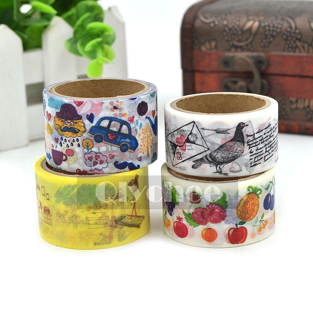Cartoon Pattern Washi Tape Craft Scrapbooking Sticky