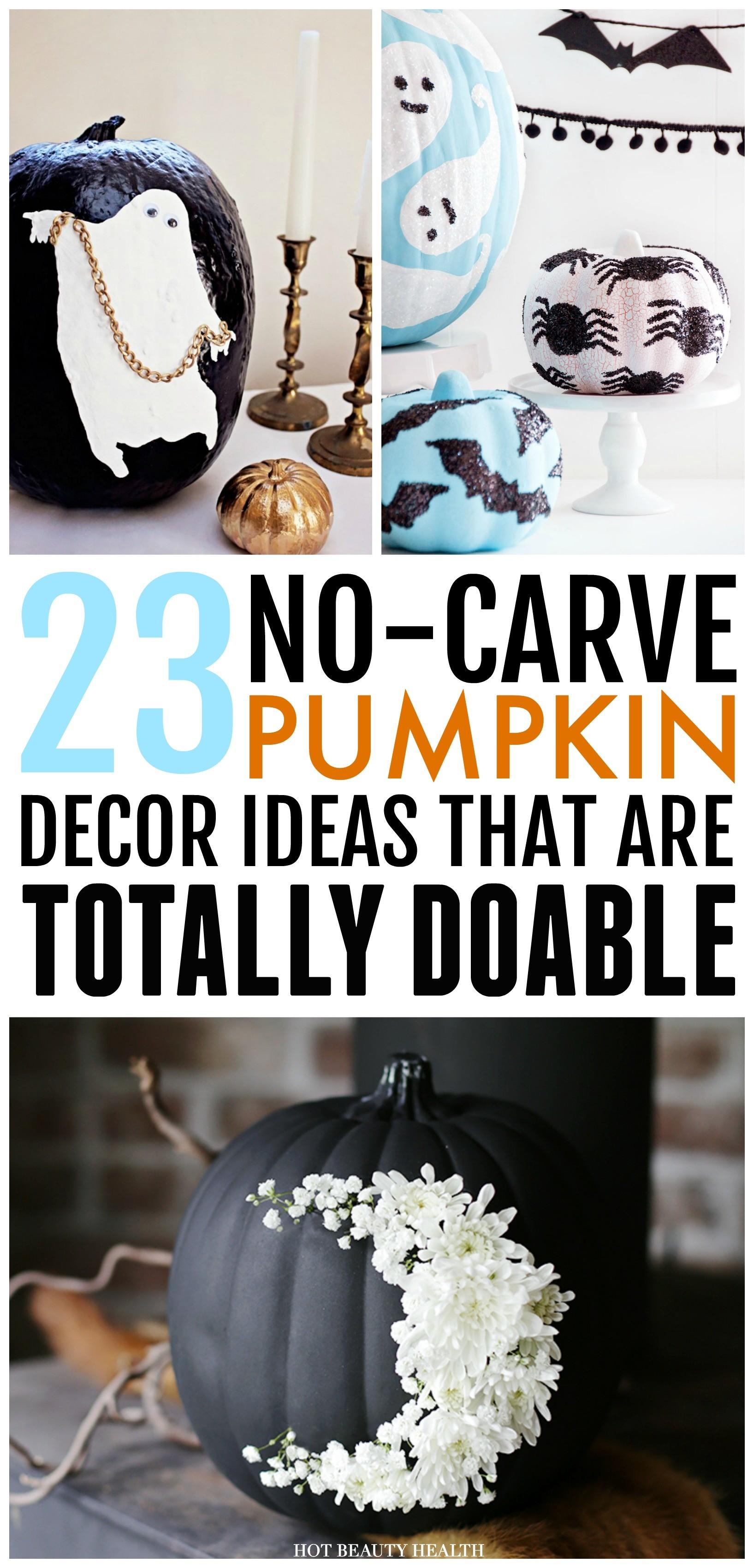 Carve Pumpkin Decorating Ideas Totally
