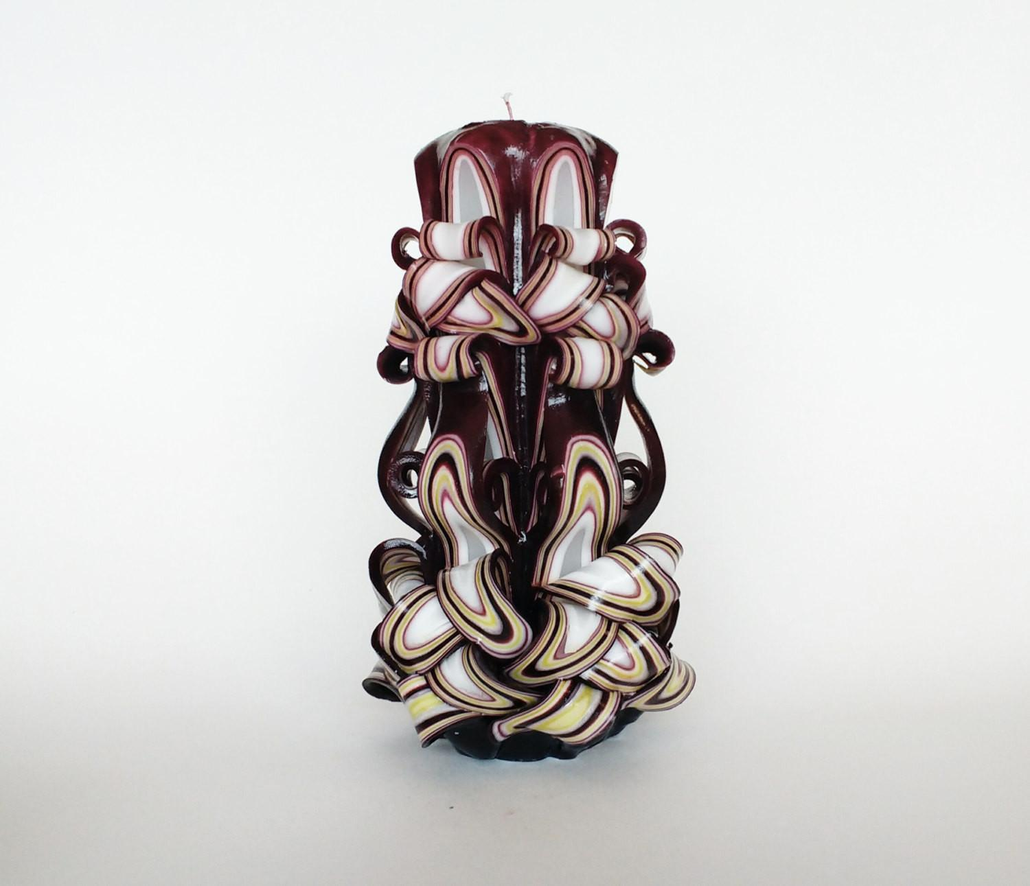 Carved Candle Decorative Candles Unique Gift