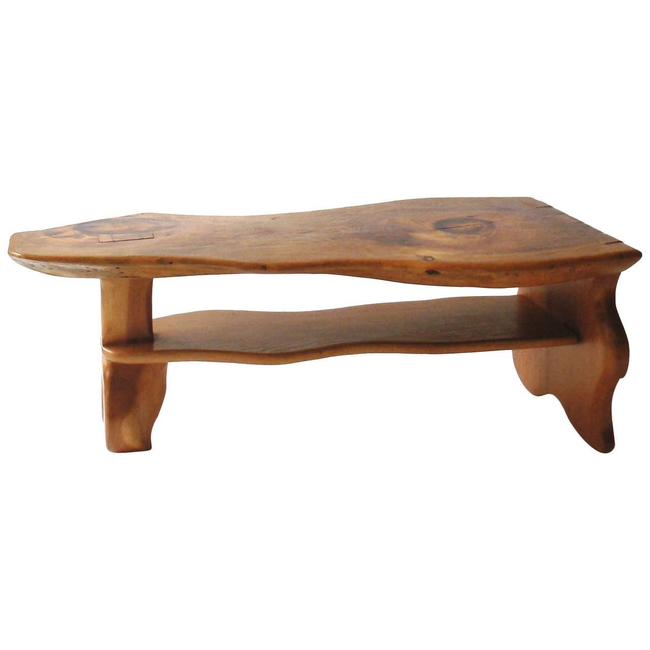 Carved Live Edge Coffee Table Manner Alexandre Noll