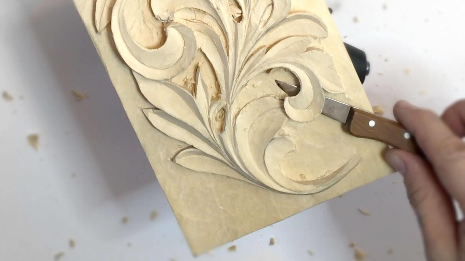 Carving Greek Acanthus Leaf Grabovetskiy School