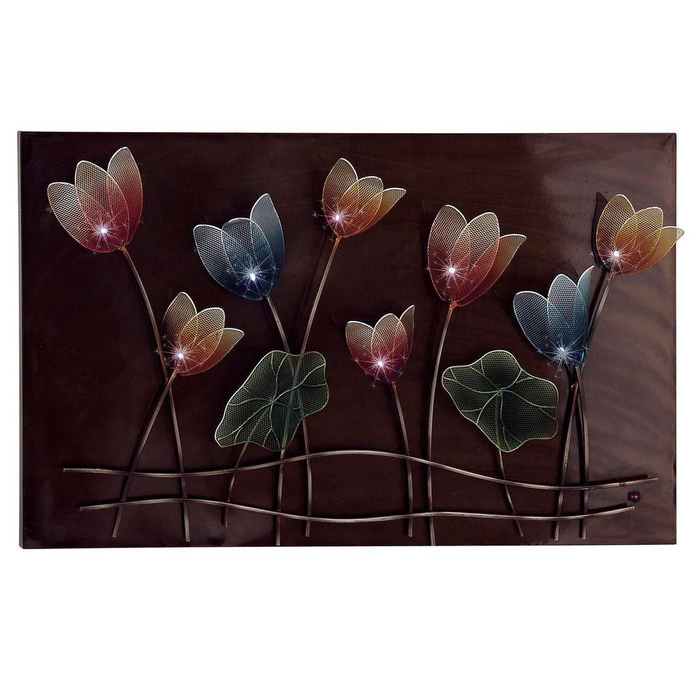 Casa Cortes Spring Flowers Hand Crafted Led Lighted Metal