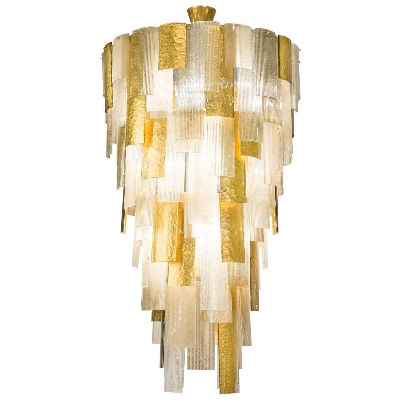 Cascading Chandelier Murano Glass Sale 1stdibs