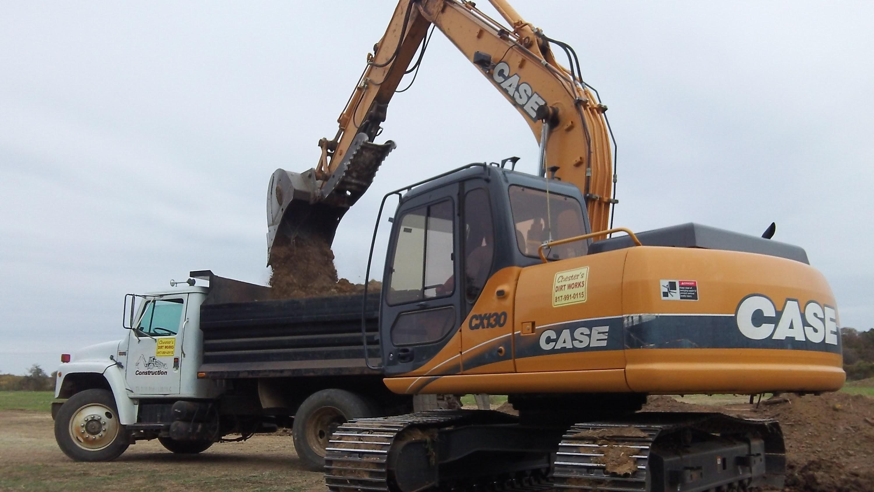 Case Excavator Digging Pond Doovi