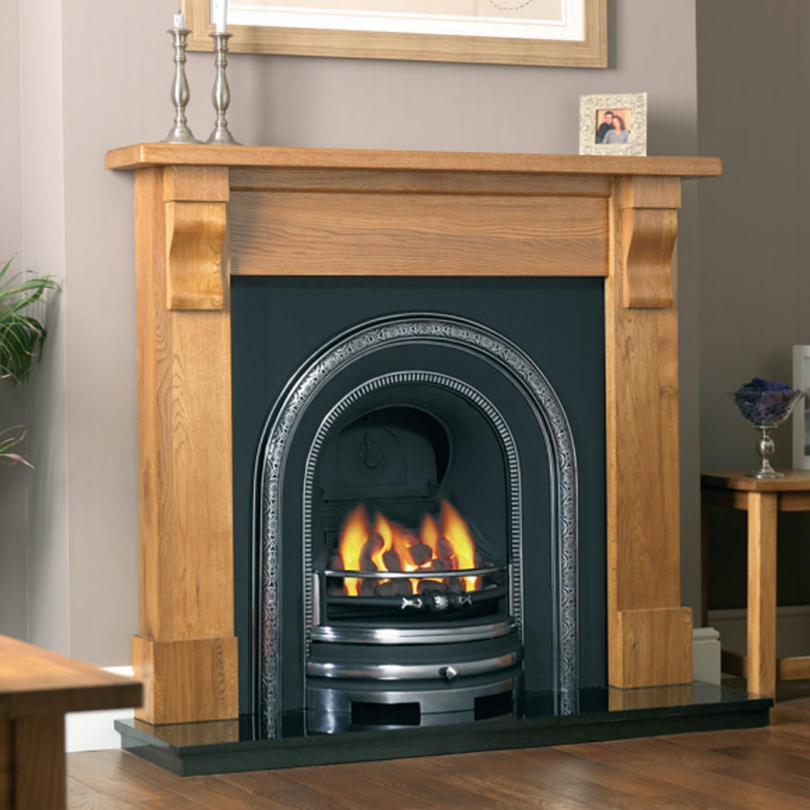 Cast Electric Fireplace Real Mantel