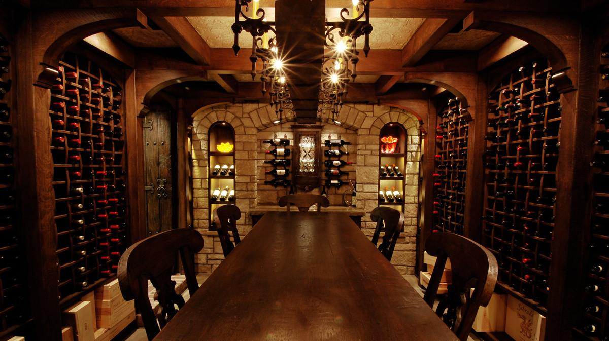 Castle Inspired Wine Cellar Nspj Architects