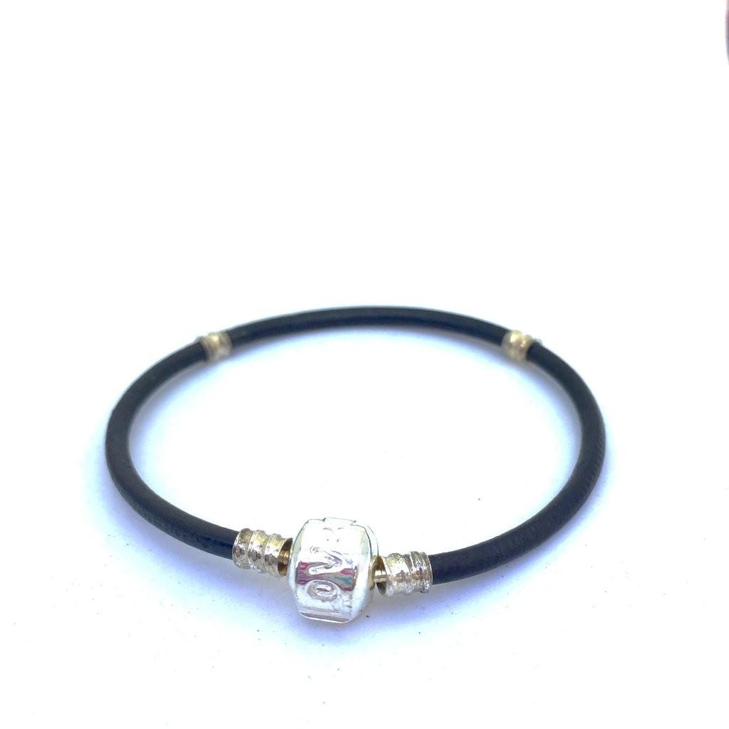 Casual Style Leather Cord Bracelet Love Clasp Handmade