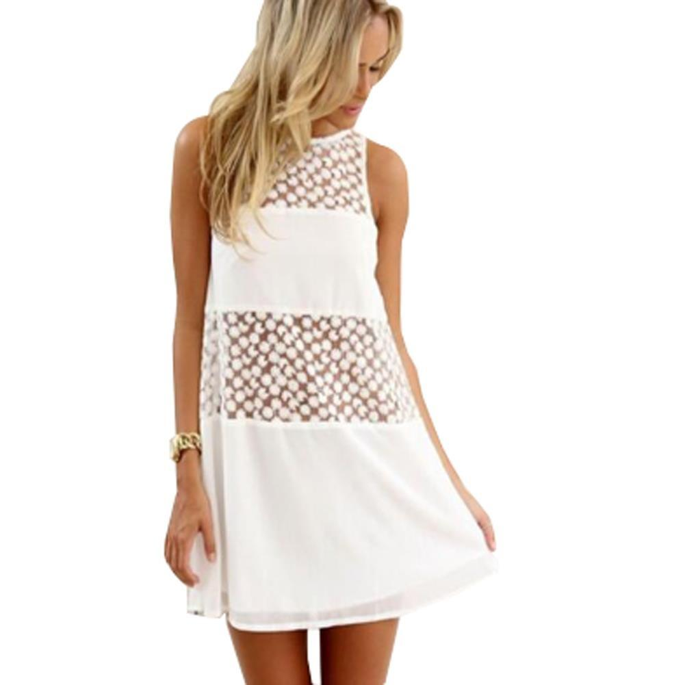Casual Summer Style Dress 2015 Women White