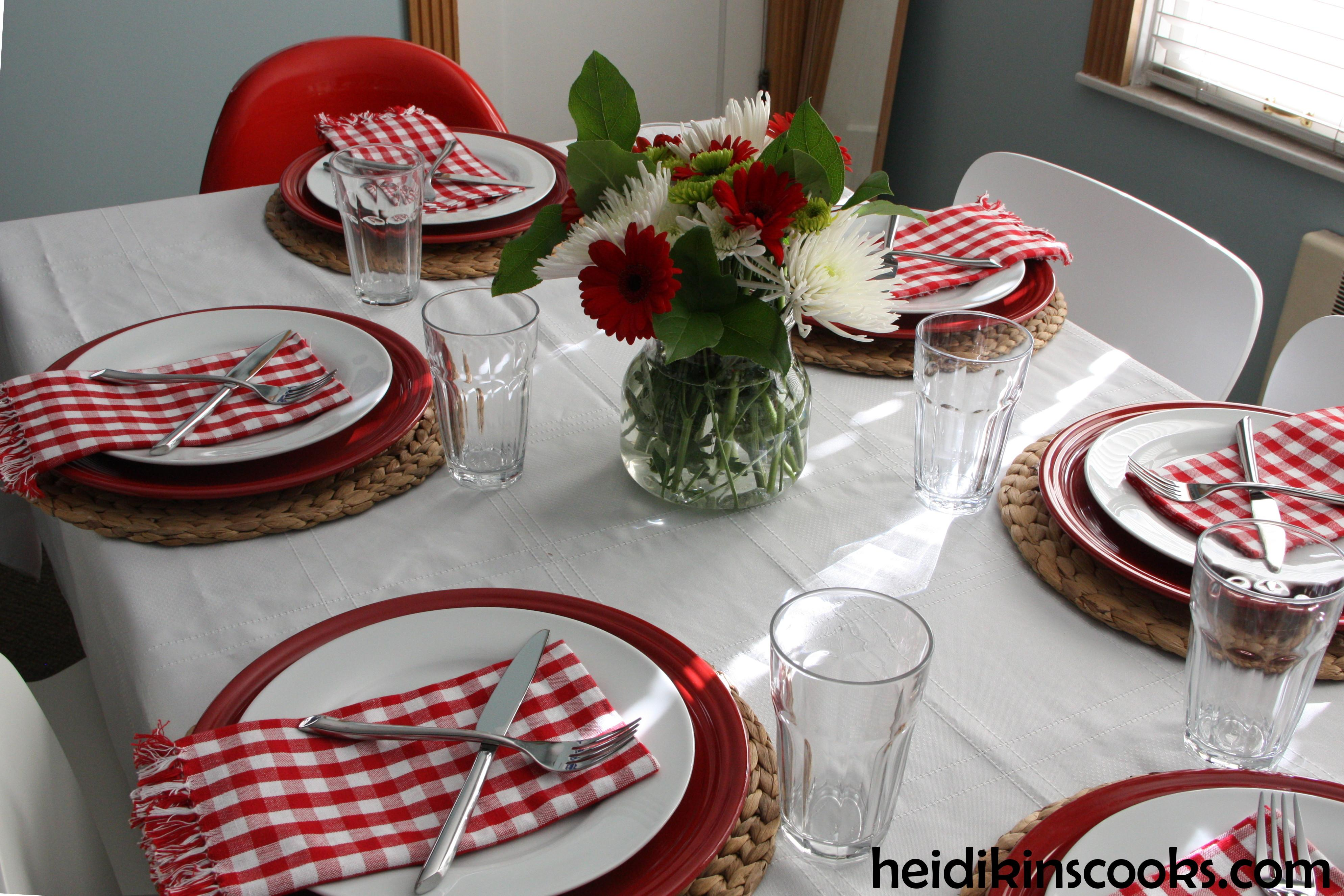 Casual Valentine Day Table Setting Heidikins Cooks