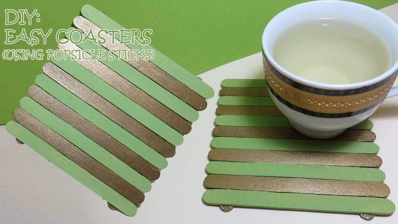 Cat Diy Easy Coasters Using Popsicle Sticks