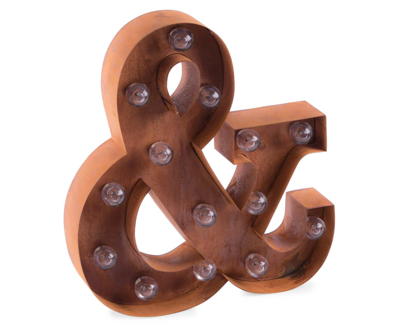 Catchoftheday Marquee Ampersand 33cm Wall Light