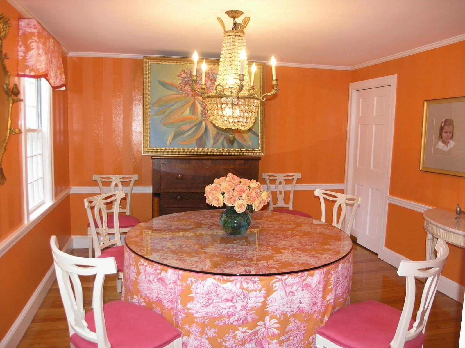 Catchy Orange Dining Room Designs Awesome Inspiration