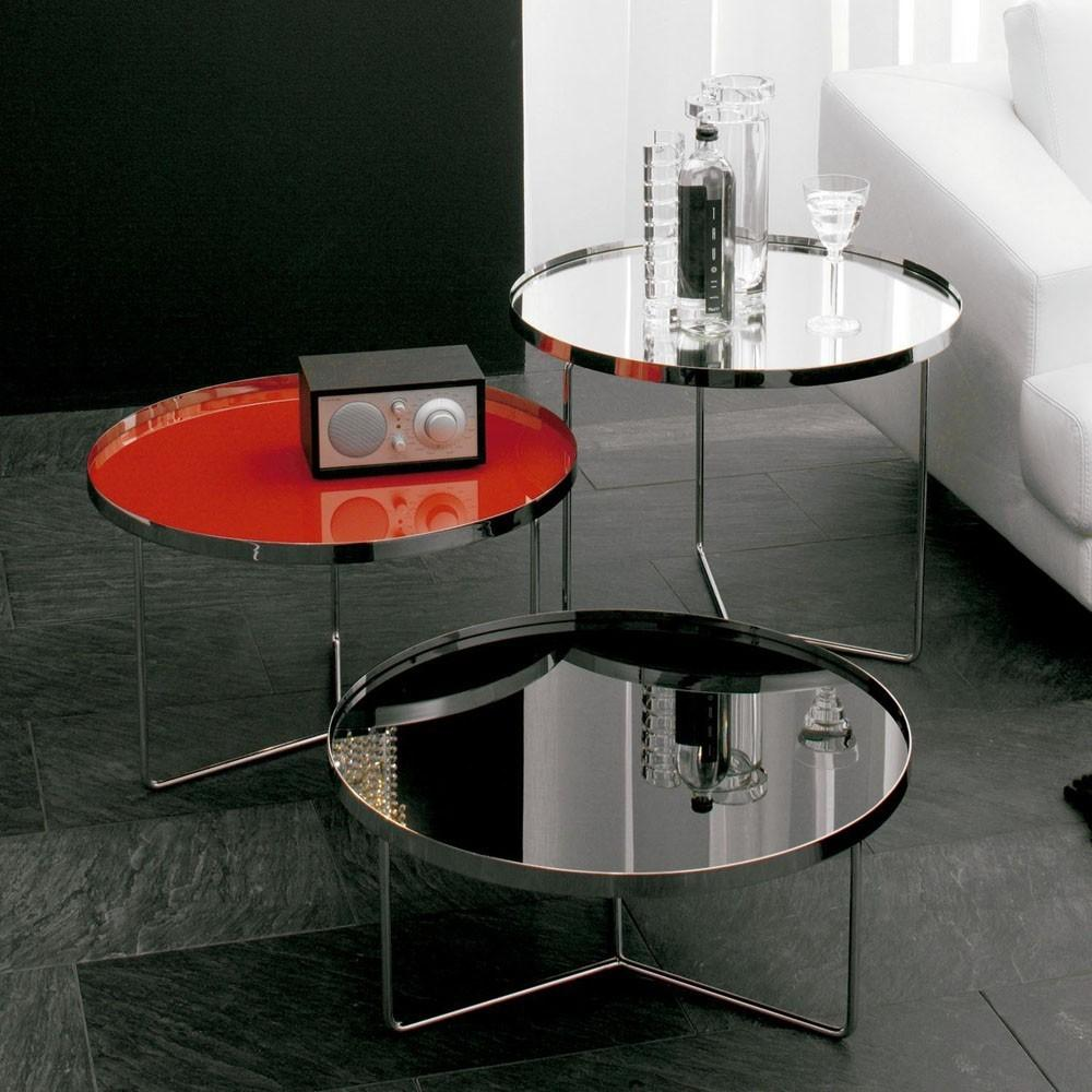 Cattelan Italia Billy Round Glass Coffee Table