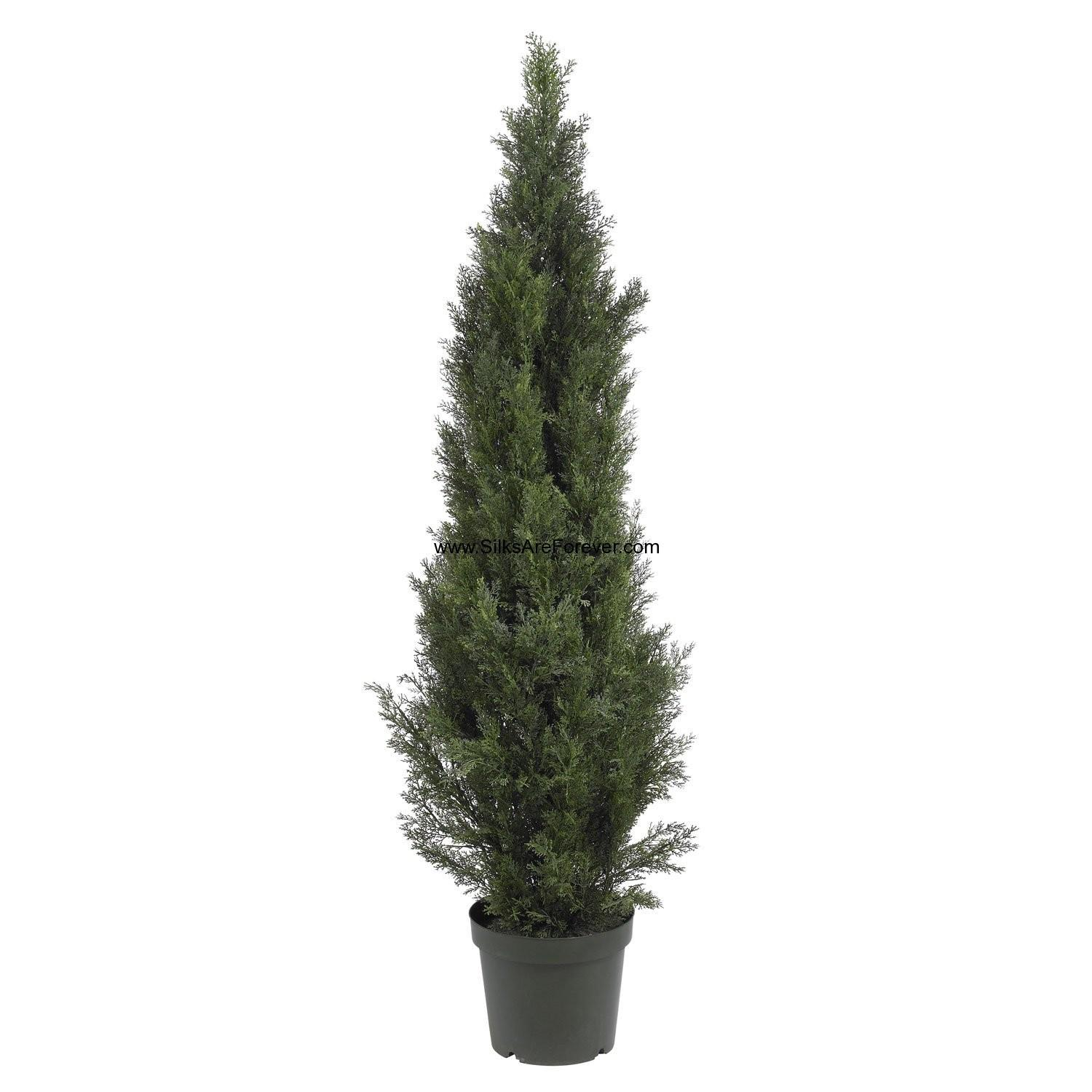 Cedar Cone Shaped Artificial Topiary Tree Pot Indoor