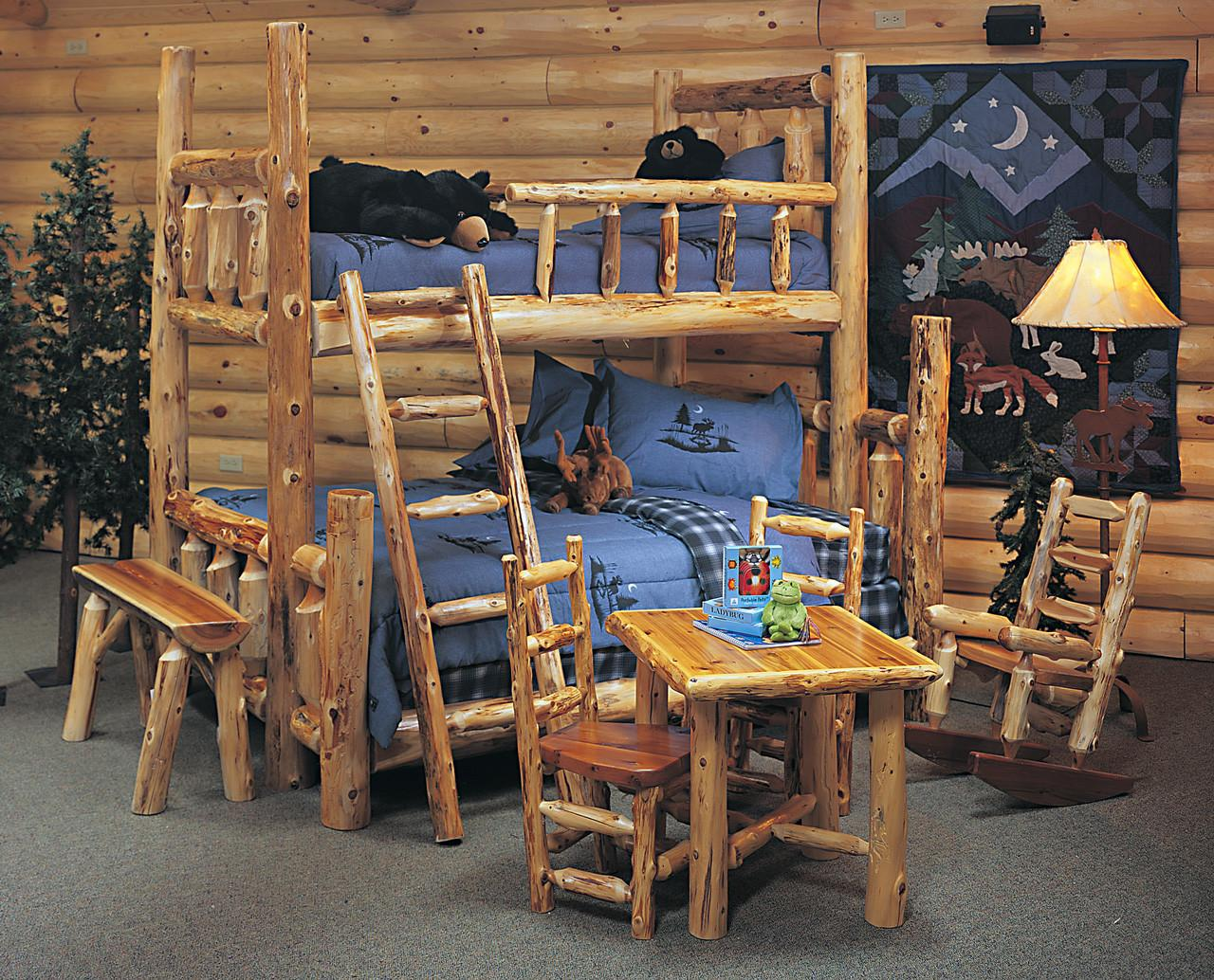 Cedar Log Bed Kits Bunk Rustic Furniture Mall
