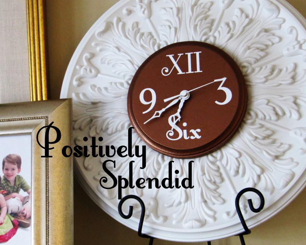 Ceiling Medallion Wall Clock Tutorial Positively