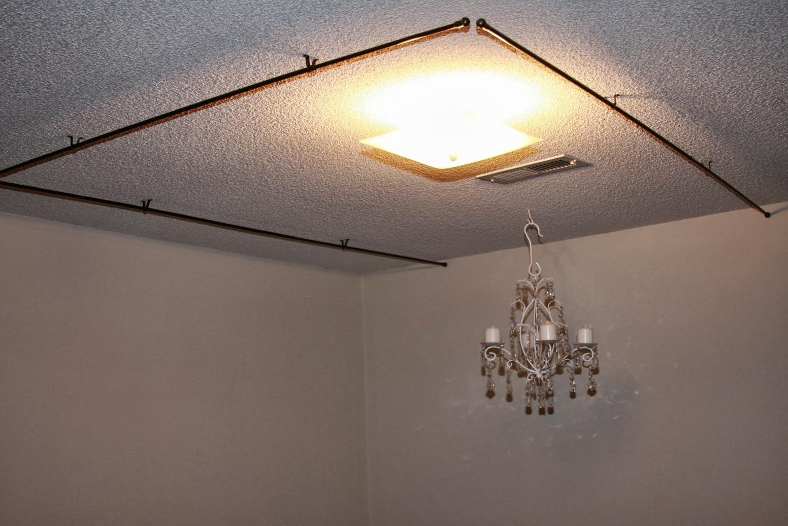 Ceiling Mount Curtain Rods Canopy Bed Home Design Ideas