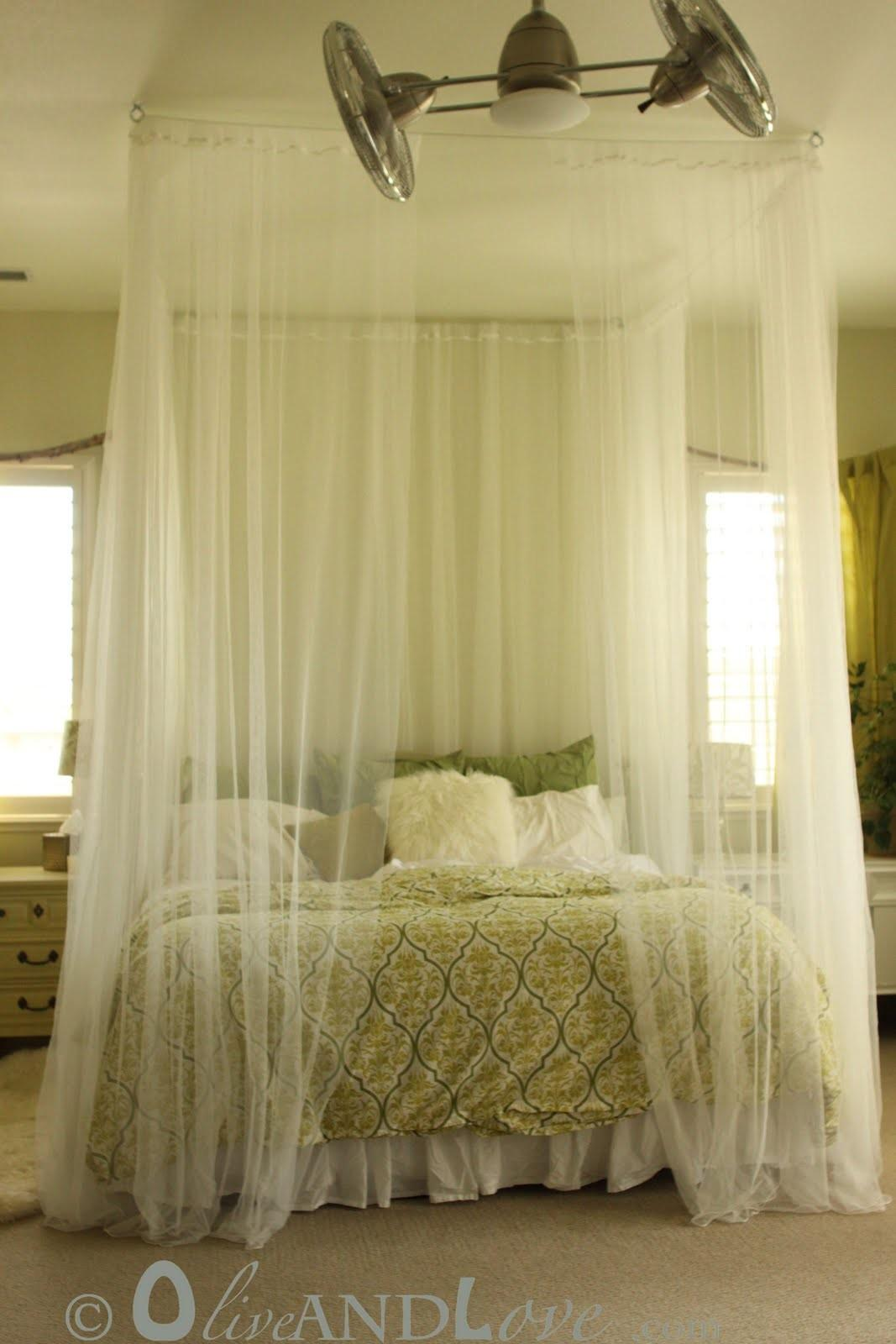 Ceiling Mounted Bed Canopy Oliveandlove